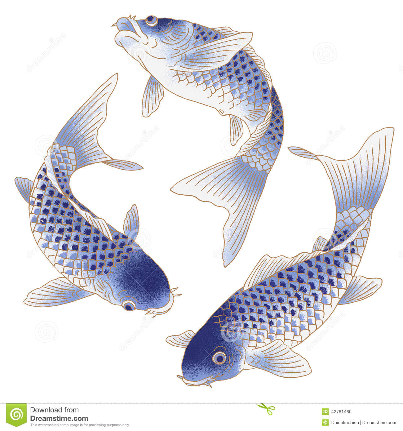 Japanese Carp Stock Illustration - Image: 42781460