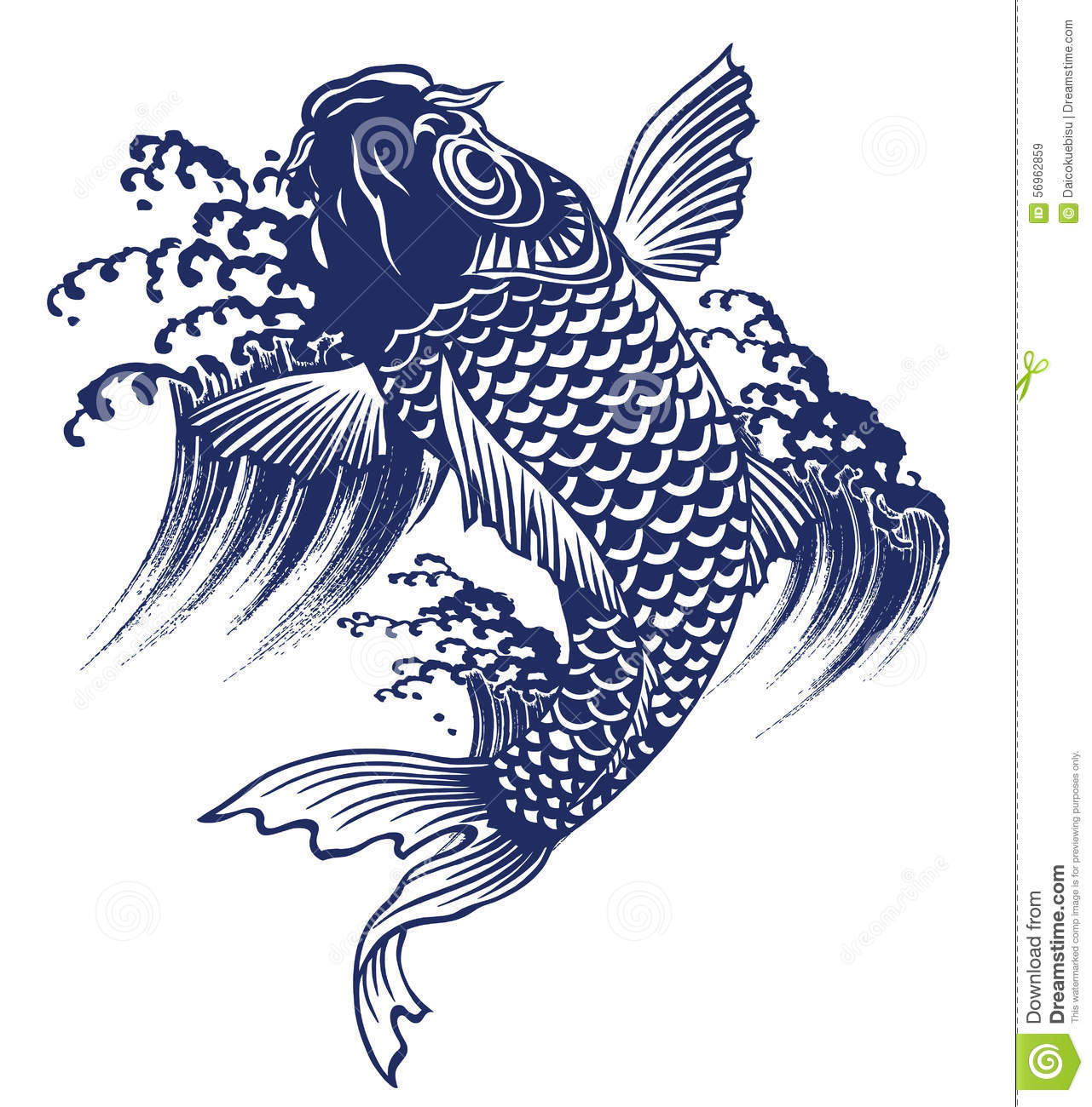 Japanese Carp Stock Illustration - Image: 56962859