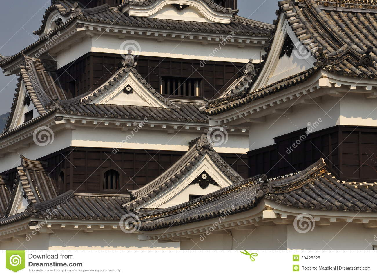 Royalty Free Stock Photo. Download Japanese Castle Architectural Roof ...