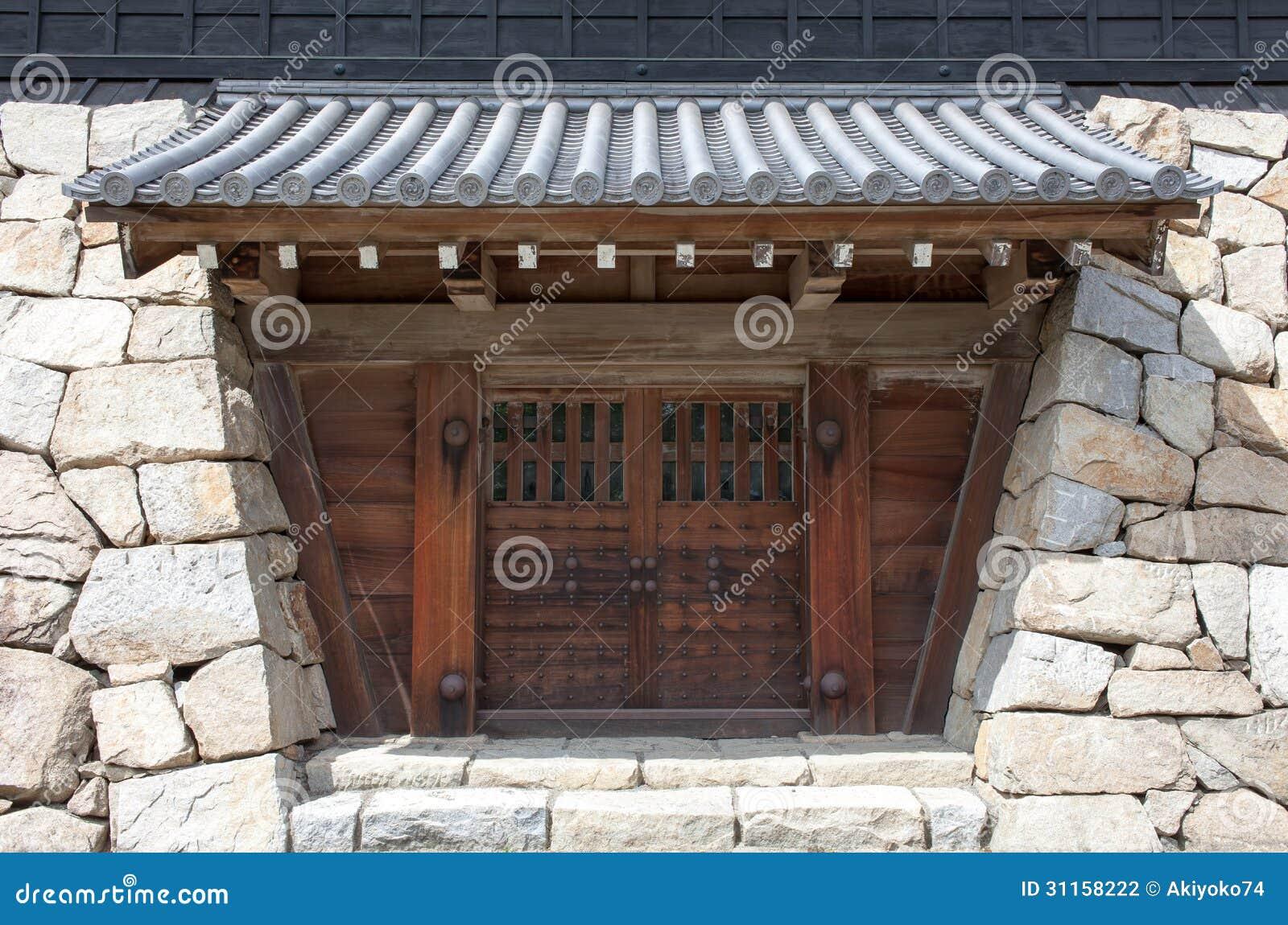 Japanese Castle Gate Stock Photo Image Of Doorway