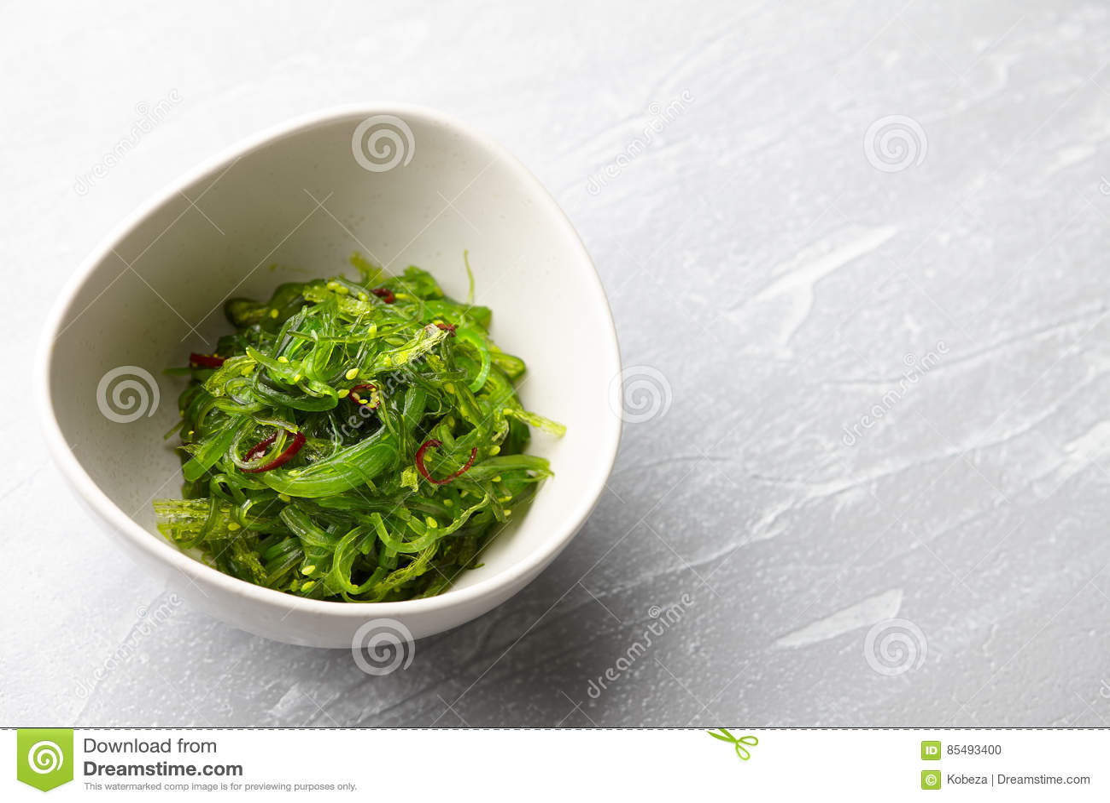Japanese Chuka Wakame Salad Stock Photo