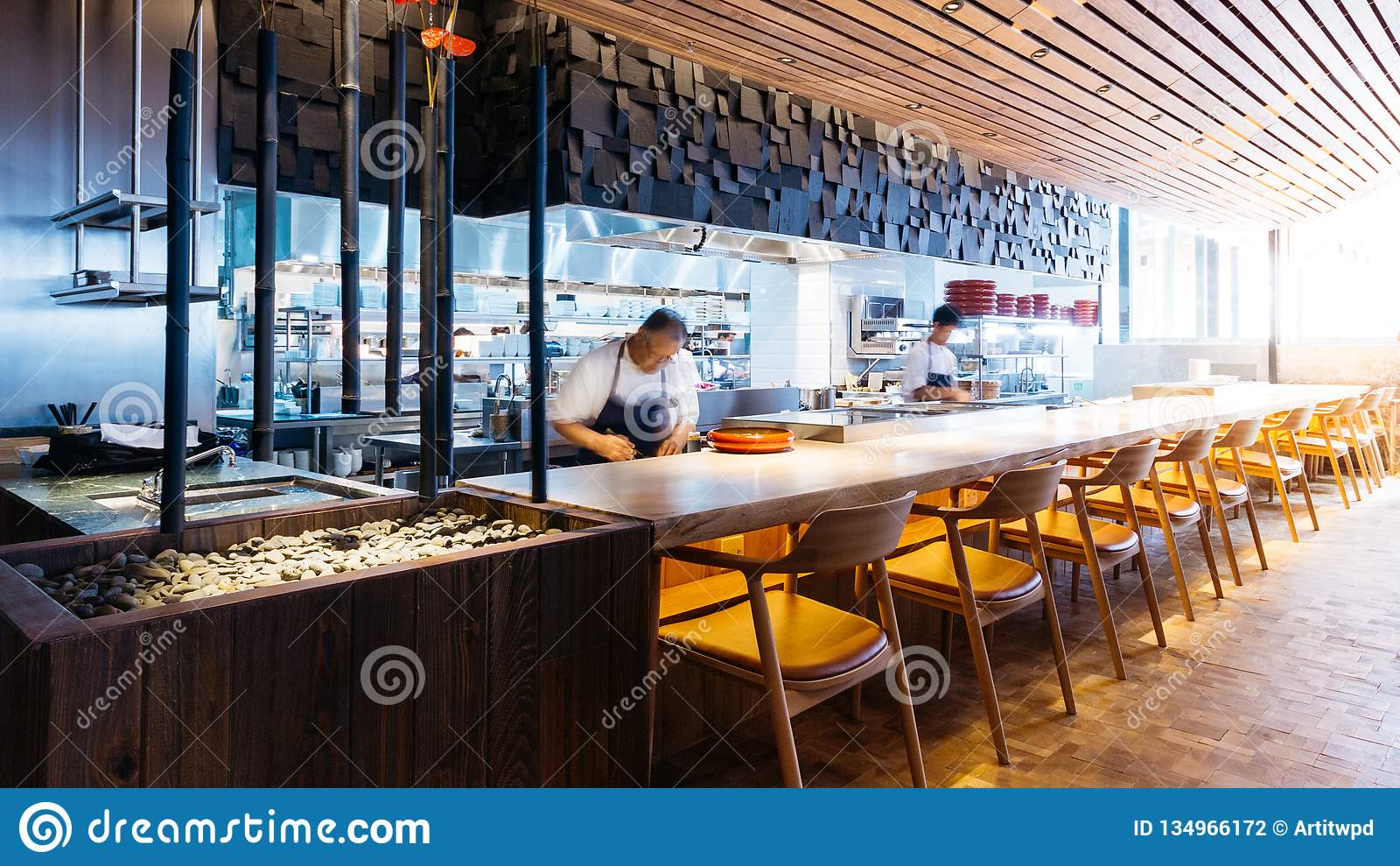 Japanese Cooking Counter With Chefs Making Omakase Sushi And Sashimi In Restaurant Editorial Photography Image Of High Culture 134966172