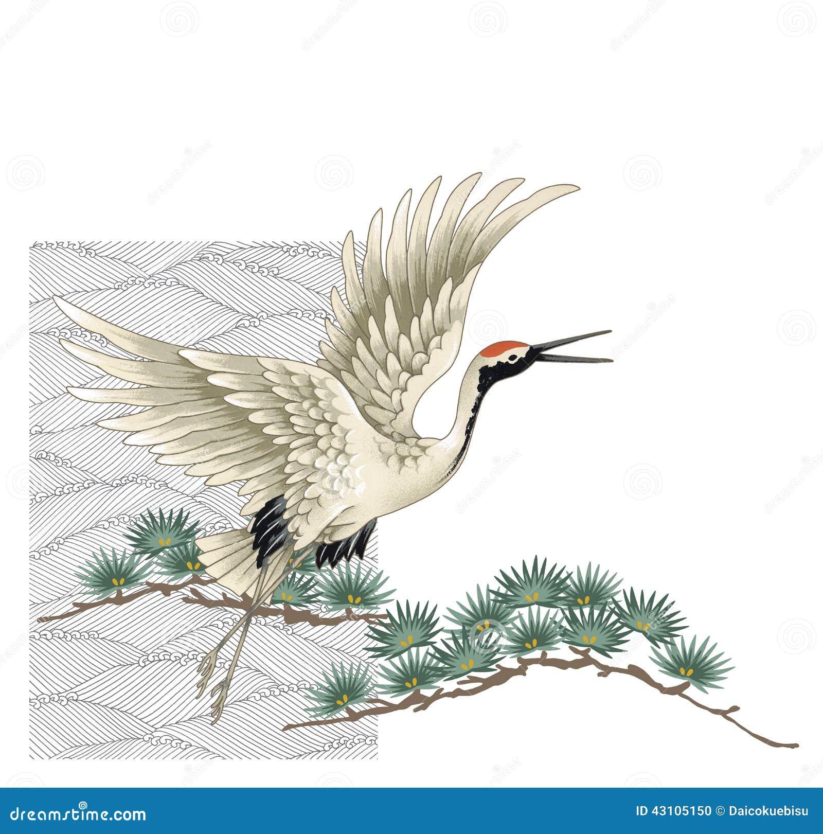 Japanese crane stock illustration. Illustration of birds ... - photo#15