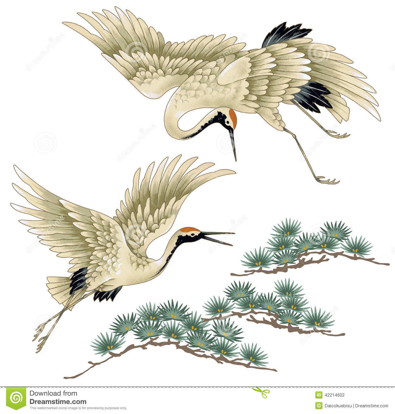 Gallery For gt Chinese Crane Drawing