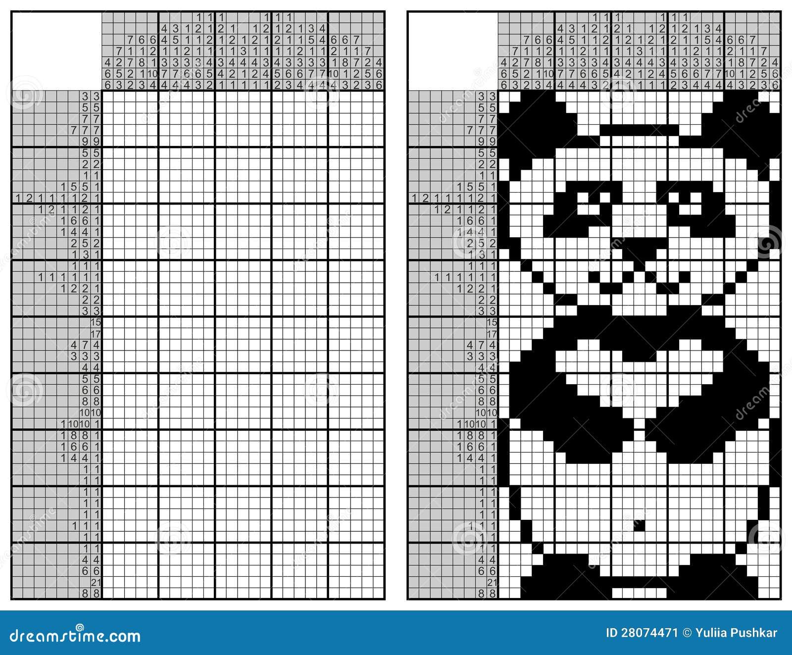 japanese crossword stock image