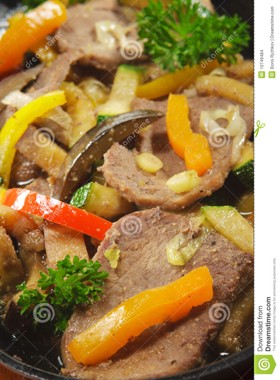 Japanese cuisine - beef with mix of vegetables