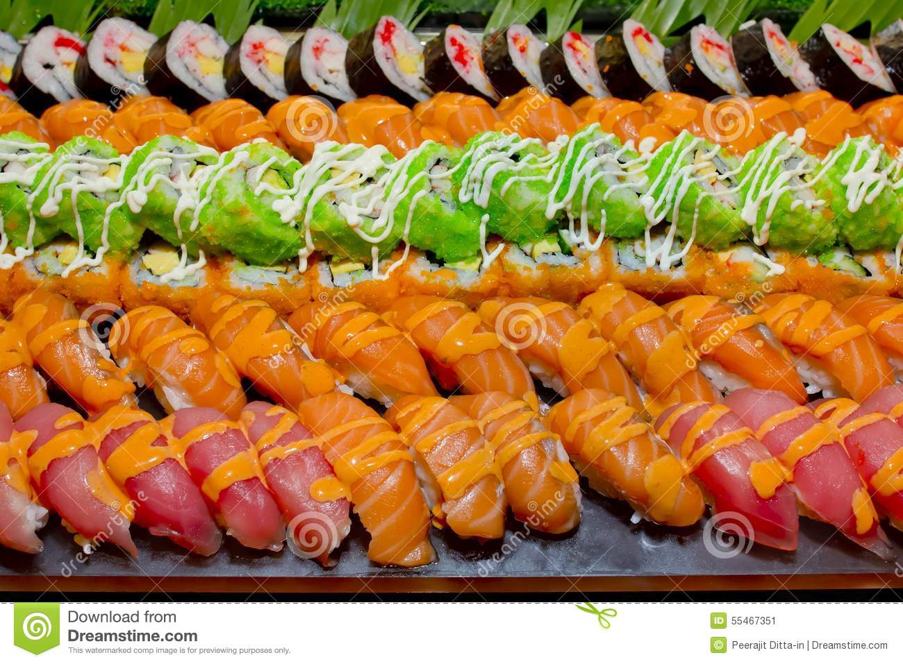 Japanese cuisine sushi set royalty free stock photo for Asian cuisine catering