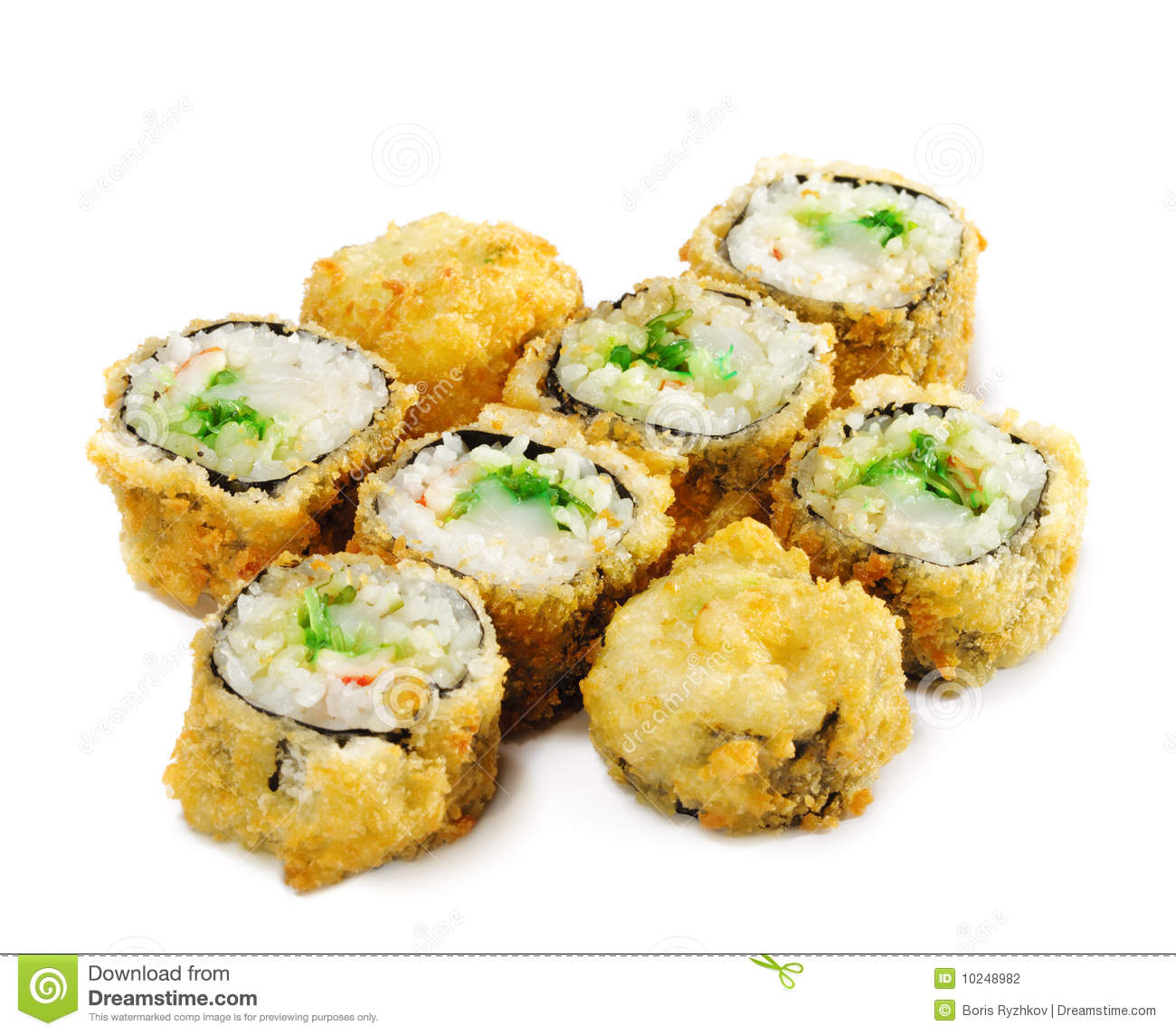 japanese cuisine deep fried sushi roll stock photo image 10248982. Black Bedroom Furniture Sets. Home Design Ideas