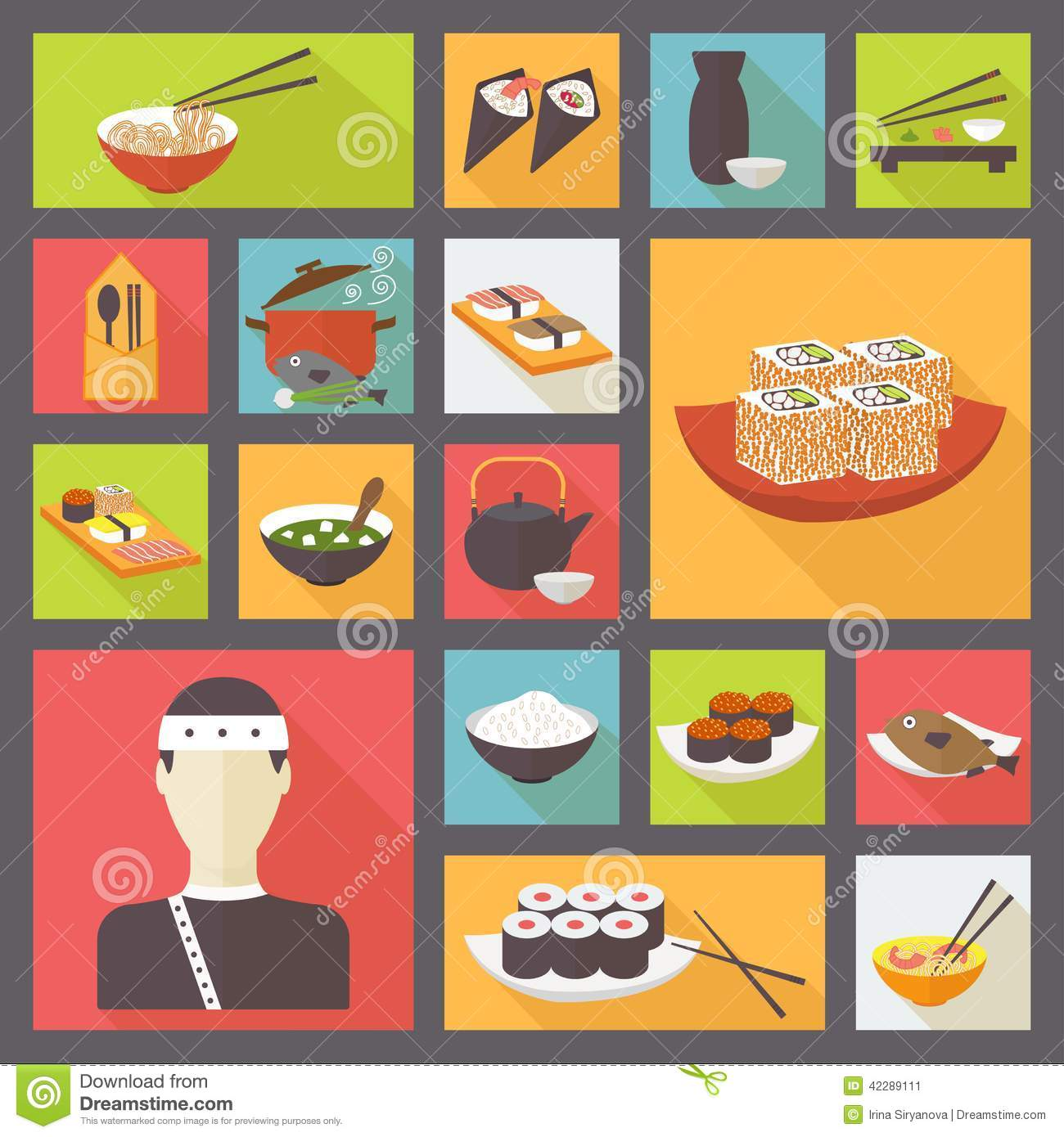 thumbs.dreamstime.com/z/japanese-cuisine-food-icons-set-flat-design-sushi-rolls-vector-42289111.jpg