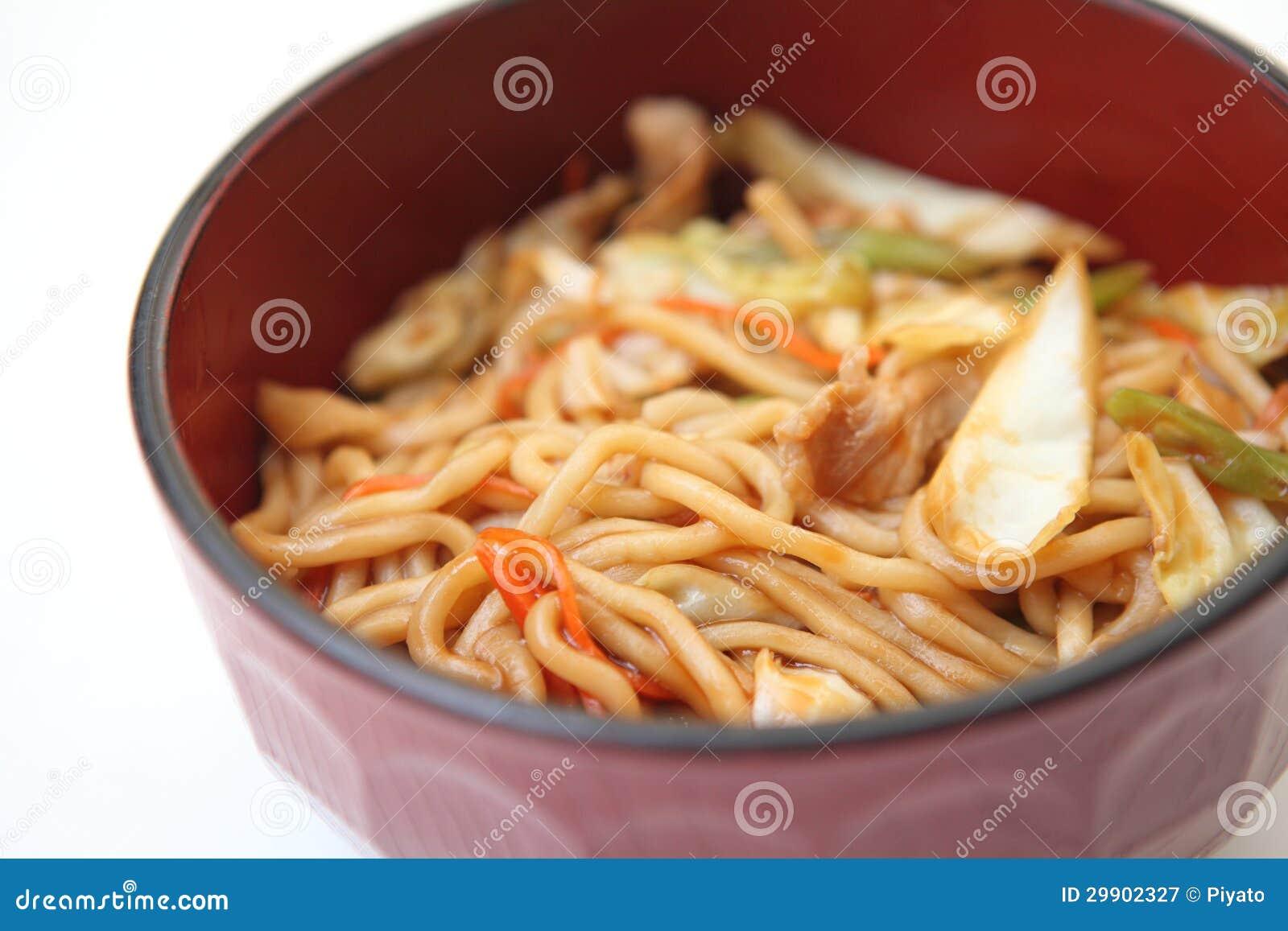 Fried Noodles Yakisoba Royalty Free Stock Photography - Image ...