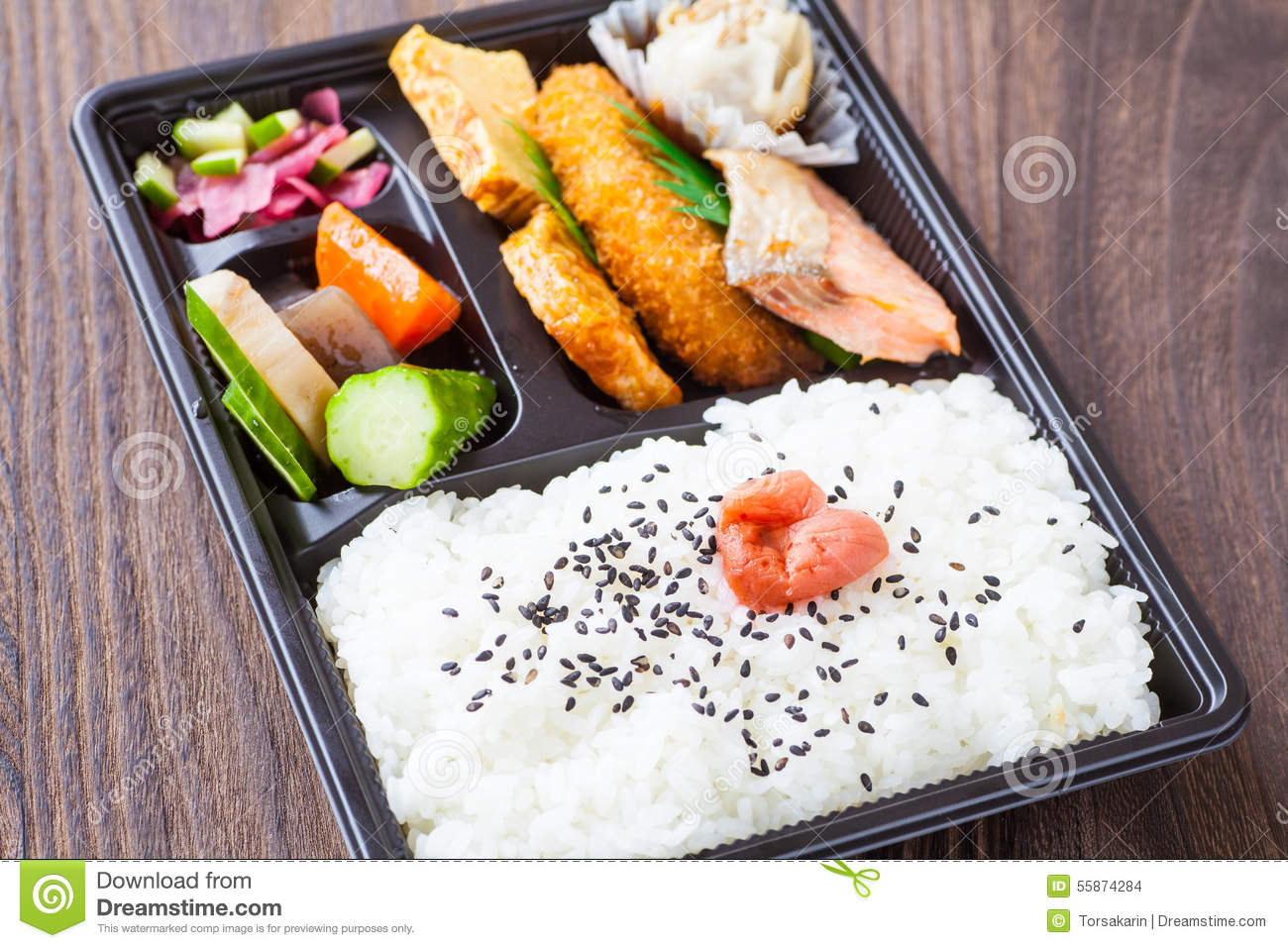Japanese cuisine a single portion takeout stock photo for Authentic japanese cuisine