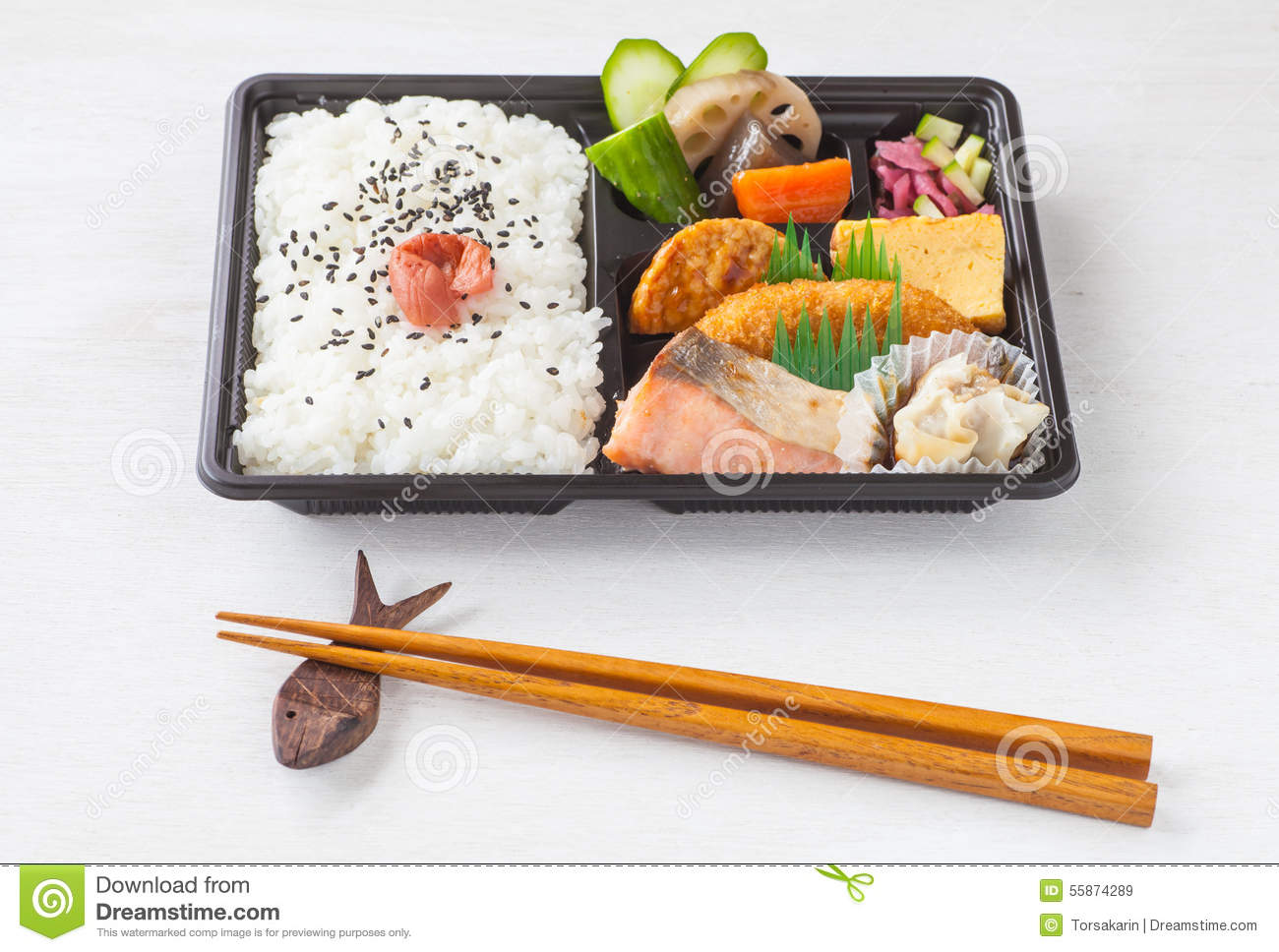 Japanese cuisine a single portion takeout royalty free for Ancient japanese cuisine