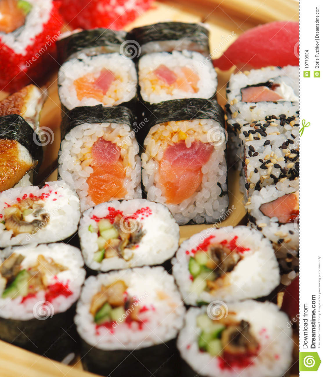 Japanese cuisine - various type of sushi