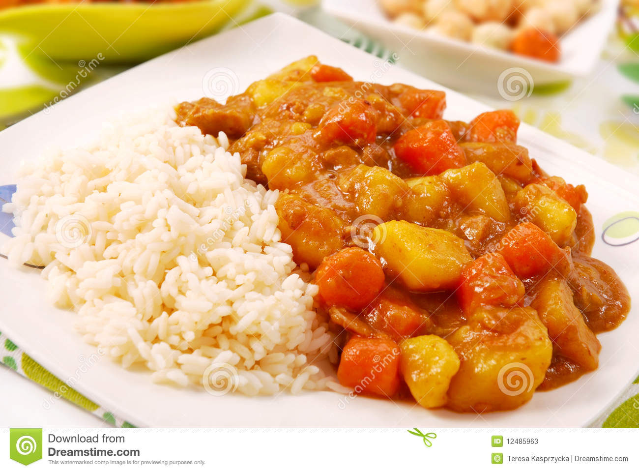 Japanese Curry Rice Stock Photos - Image: 12485963