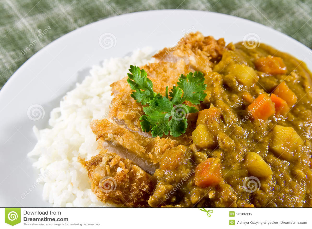 Japanese Curry Rice Royalty Free Stock Image - Image: 20106936