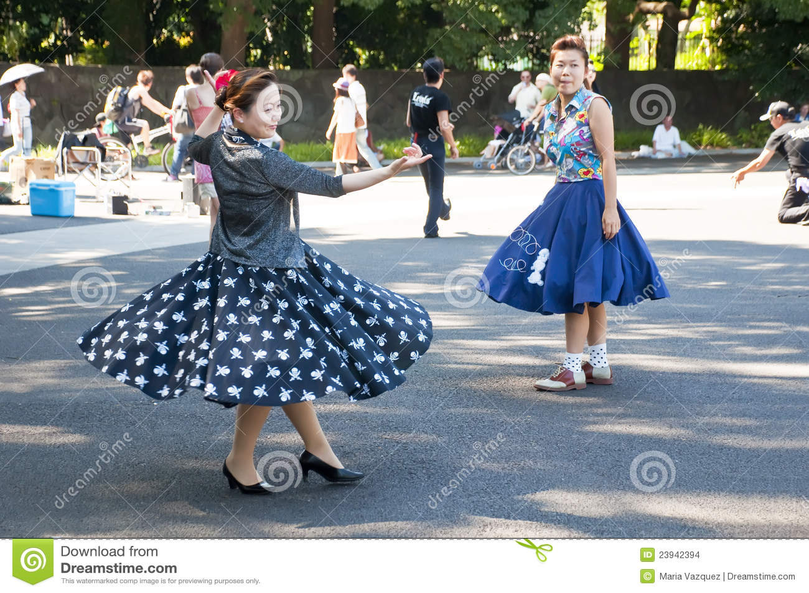 Japanese dancing in Yoyogi Park, Japan