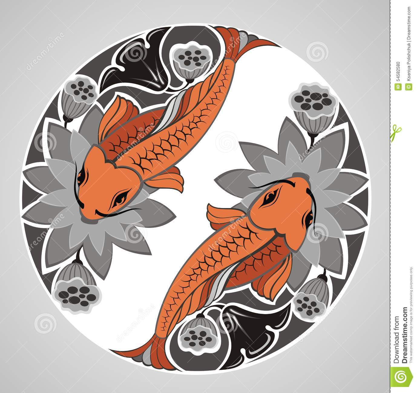 Japanese decorative koi stock vector image 54582580 - Decoratie kooi ...