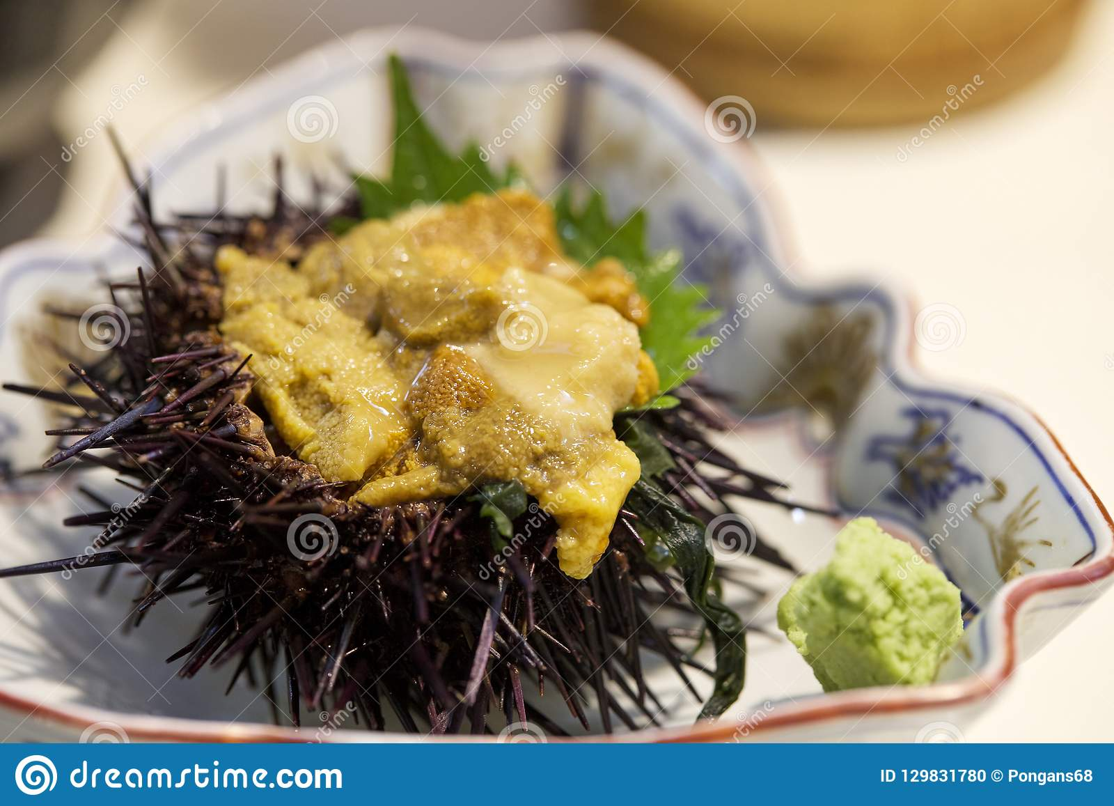 Japanese Delicious Sea Urchin Meal Stock Photo Image Of Tasty