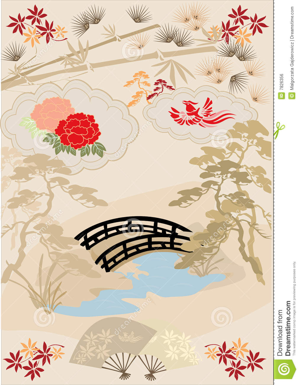 japanese design elements i stock vector illustration of