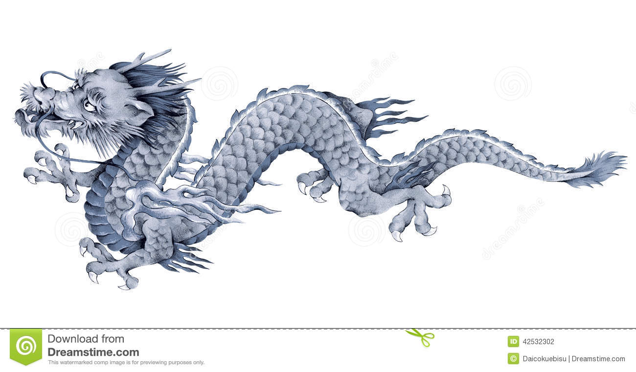 japanese dragon stock illustration illustration of freehand 42532302. Black Bedroom Furniture Sets. Home Design Ideas