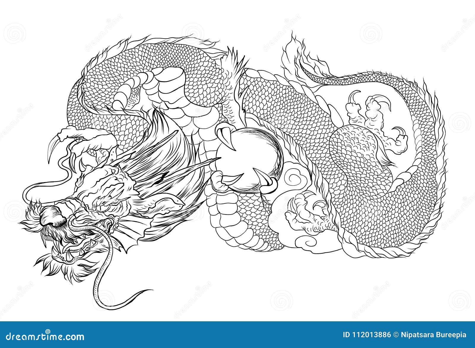 Japanese Dragon Tattoo Outline Japanese Dragon Design Tattoo For Arm