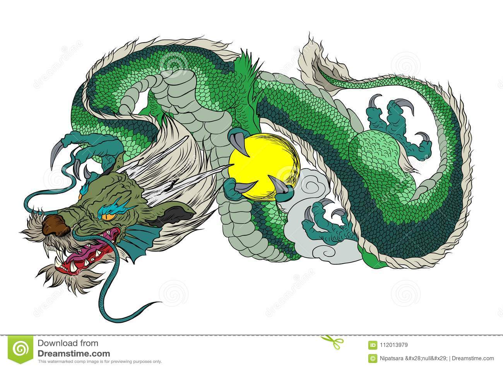 Japanese Dragon Tattoo Outline Japanese Dragon Design Tattoo