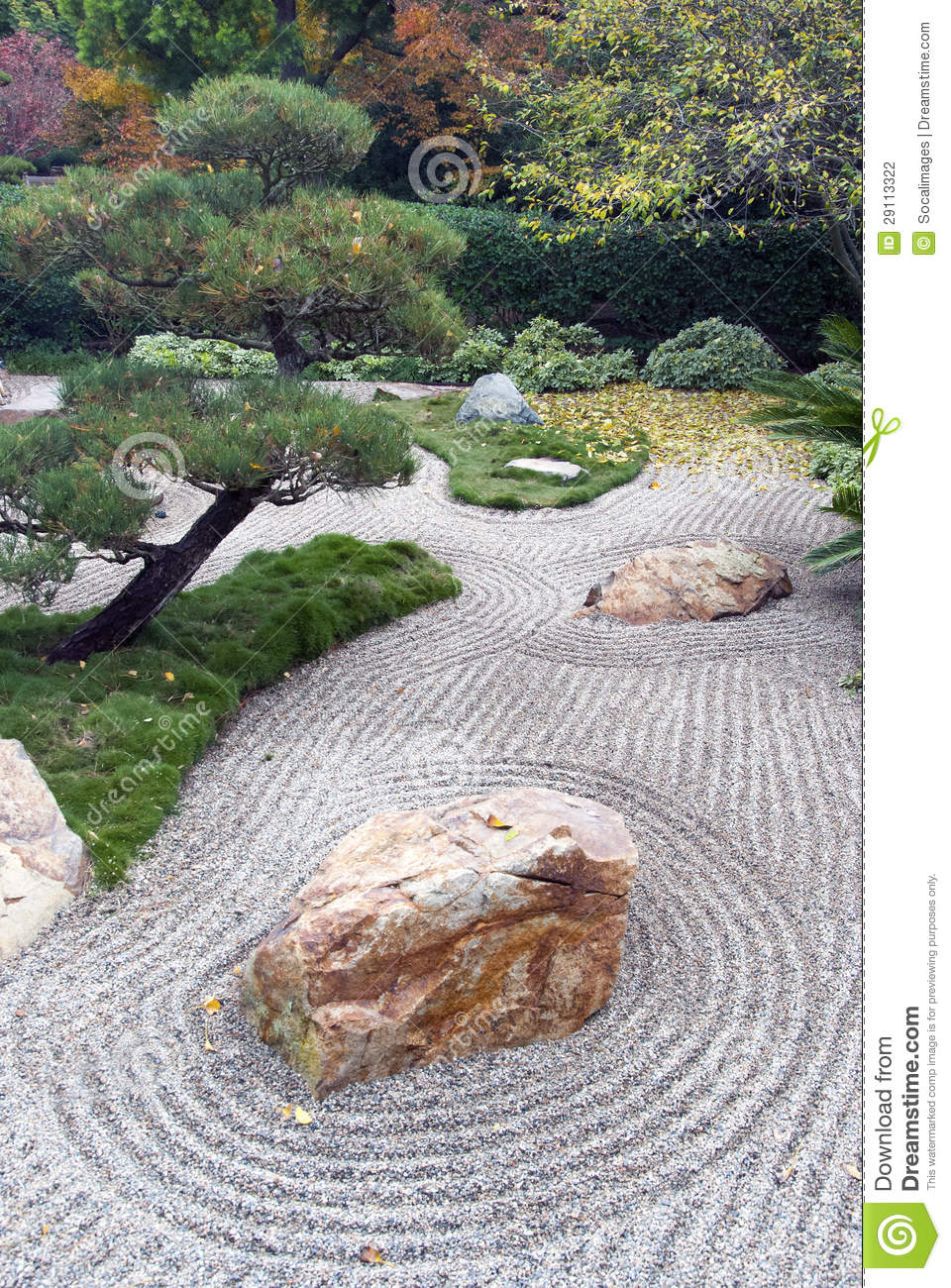 japanese dry landscape garden stock photo image of rocks clouds 29113322. Black Bedroom Furniture Sets. Home Design Ideas