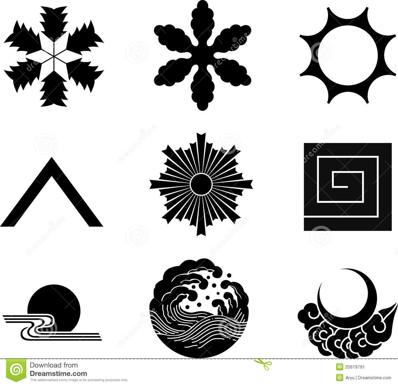 Japanese family crests stock vector illustration of snow 20619791 japanese family crests biocorpaavc