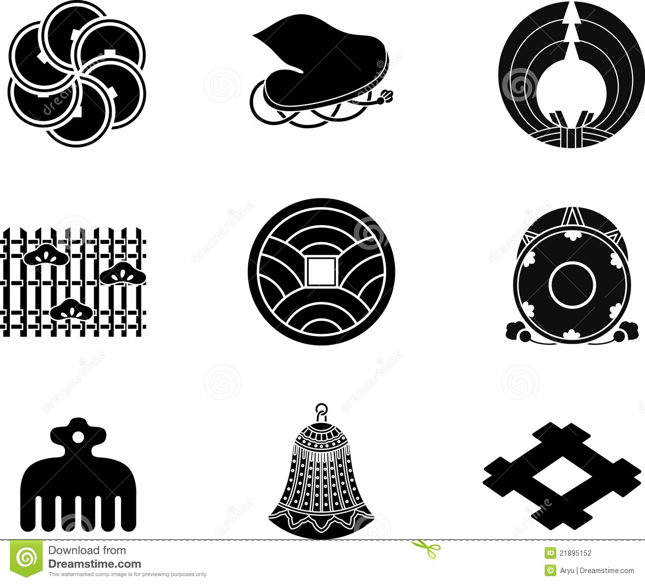 Japanese family crests stock vector illustration of black 21895152 japanese family crests biocorpaavc Gallery