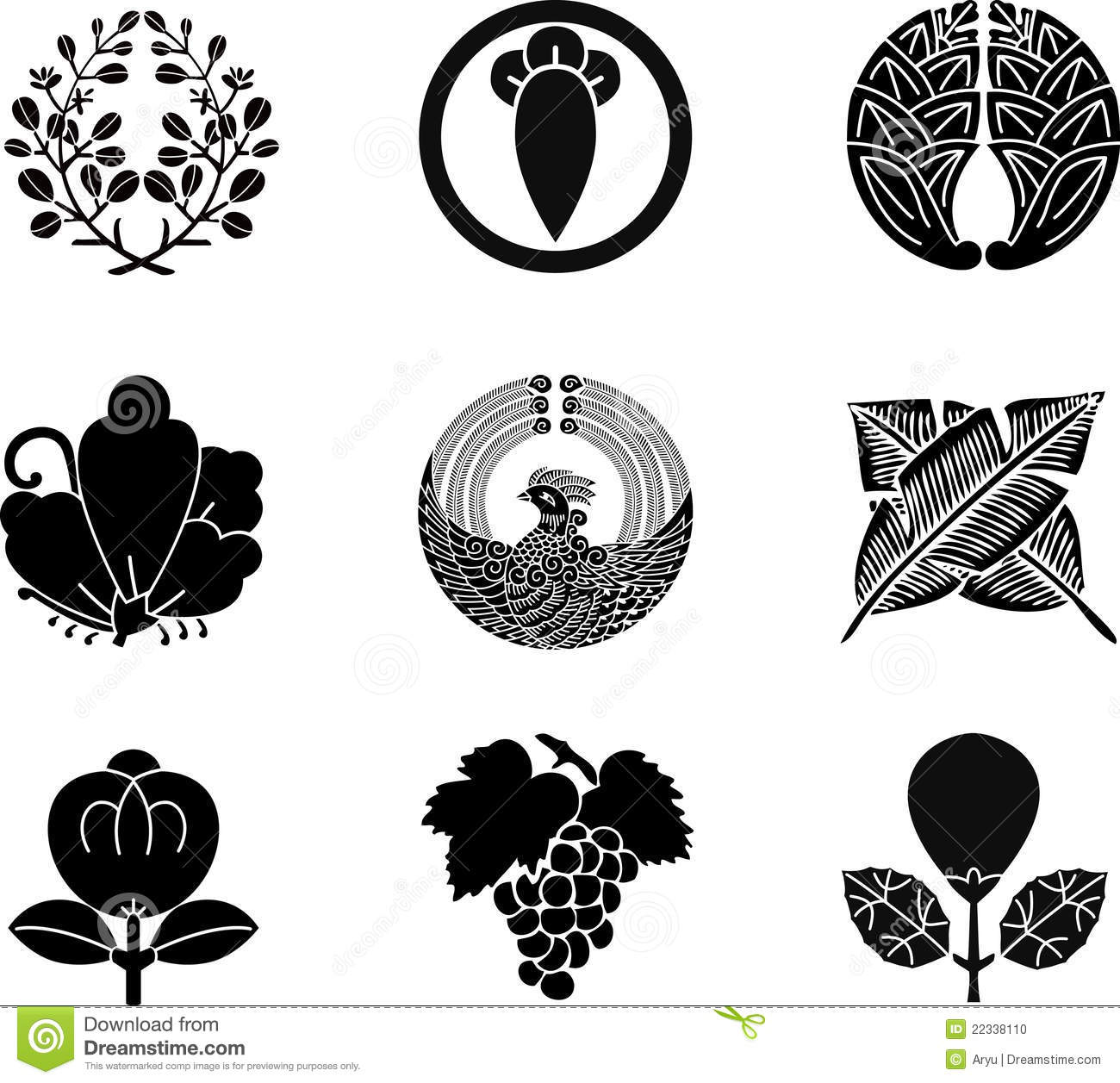 Japanese family crests stock vector image of nature 22338110 japanese family crests biocorpaavc