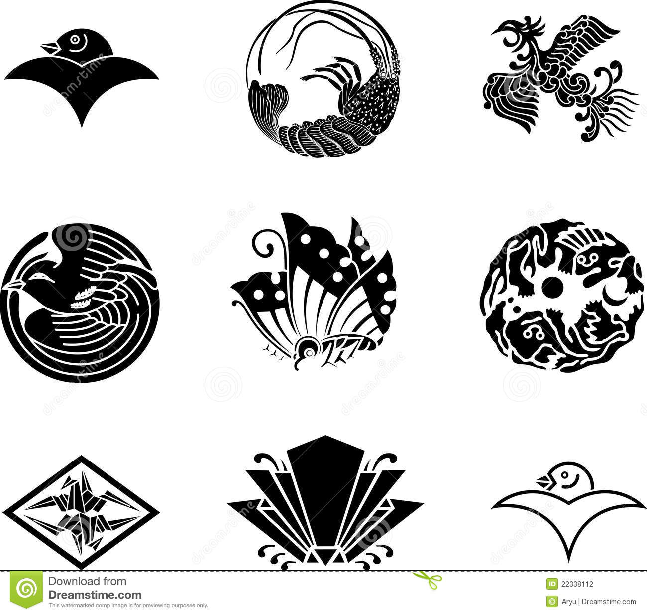 Japanese family crests stock vector illustration of japan 22338112 japanese family crests biocorpaavc