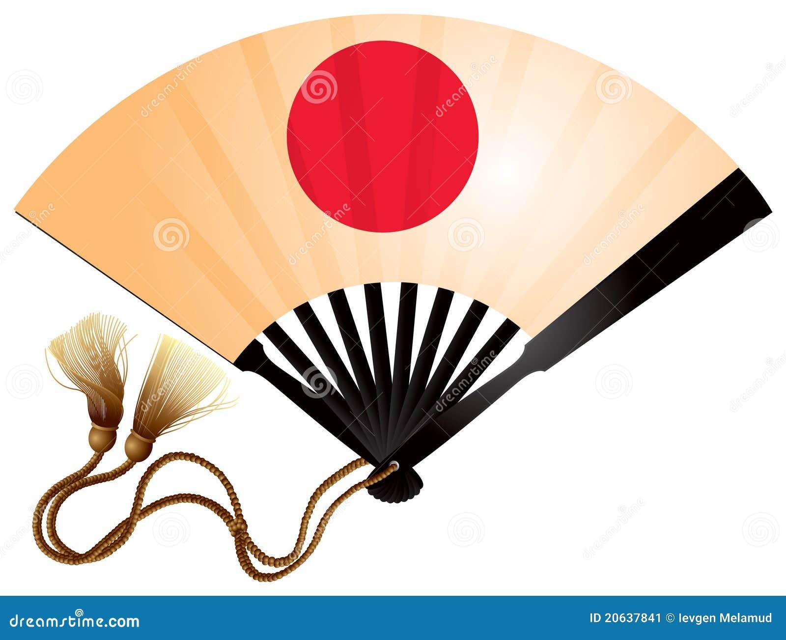 Japanese fan ogi stock vector. Illustration of landmark ...