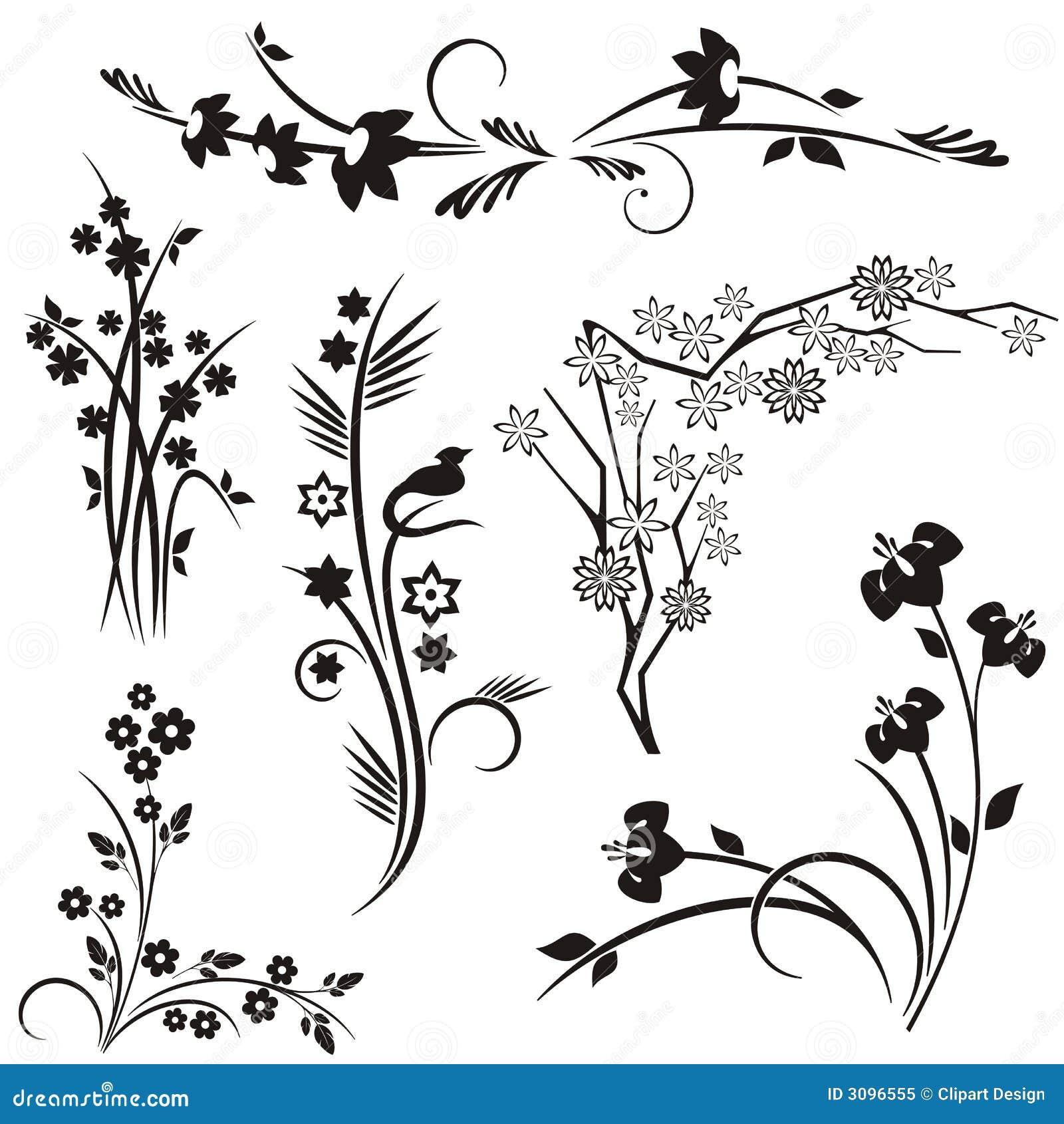 Japanese Floral Design Series Stock Vector - Illustration ...