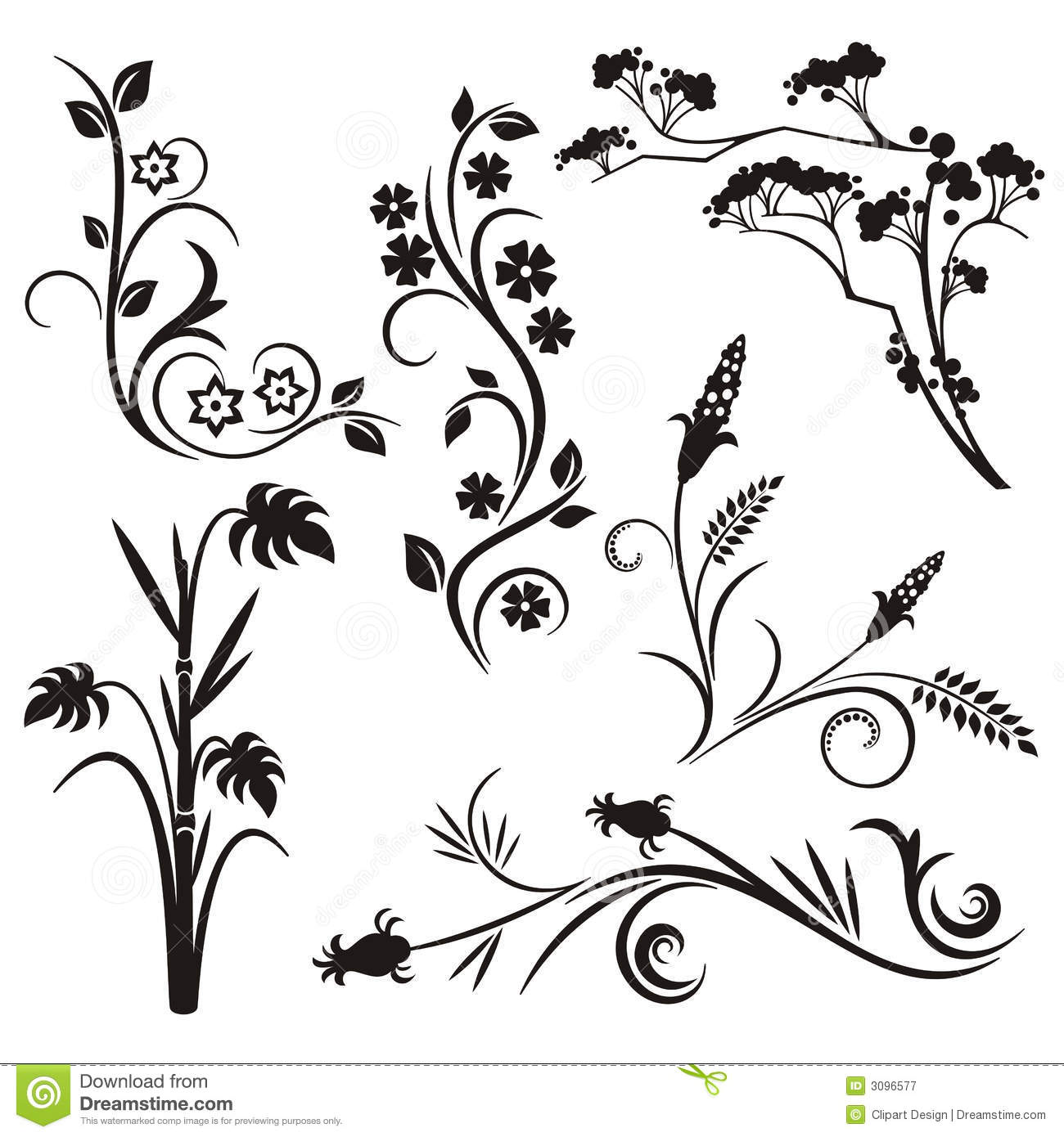 Japanese Floral Design Series Royalty Free Stock ...