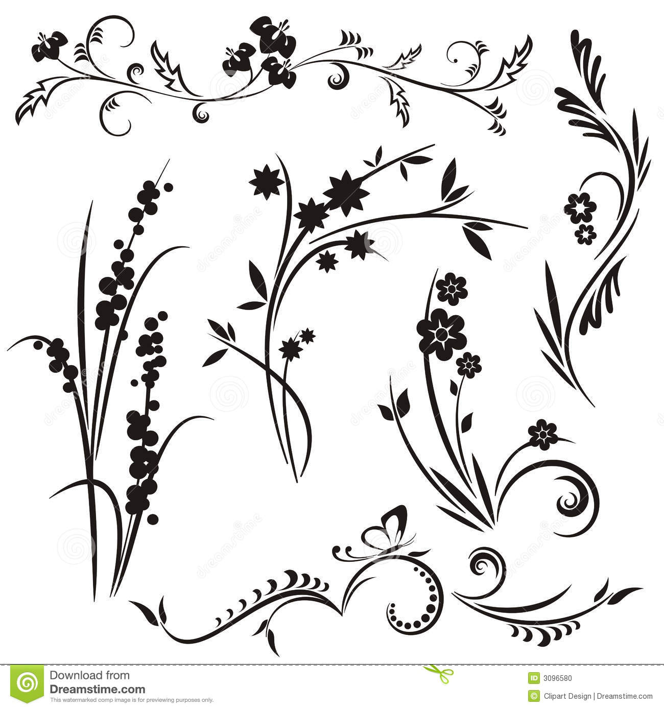 Japanese Designs japanese floral design series stock photo - image: 3096630