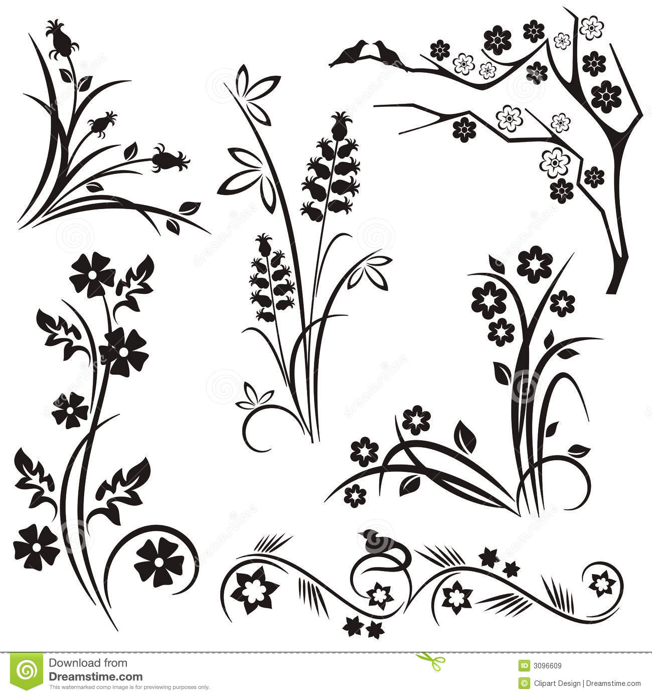 Japanese Floral Design Series Royalty Free Stock Images ...