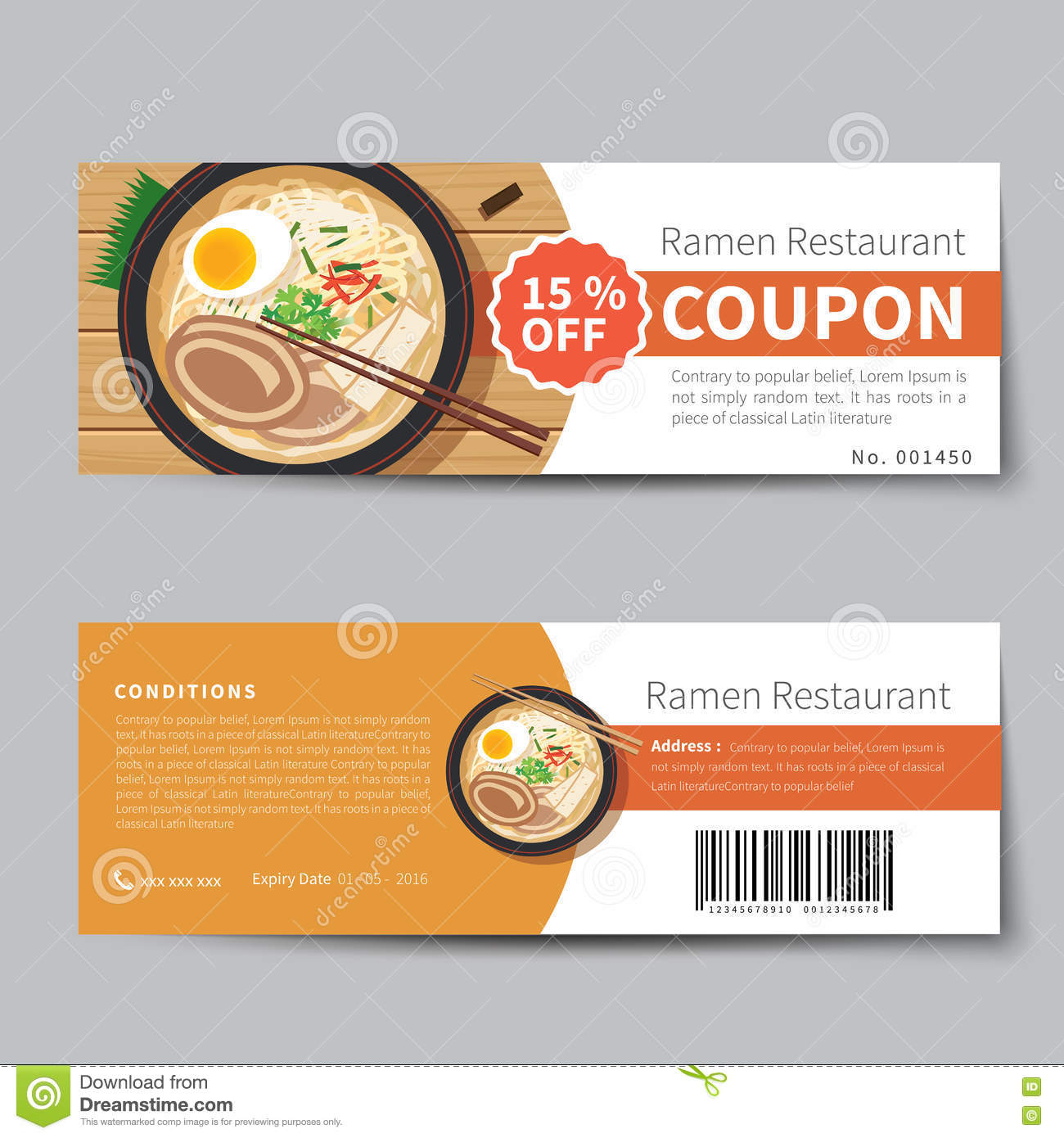 Japanese Food Coupon Discount Template  Free Discount Vouchers