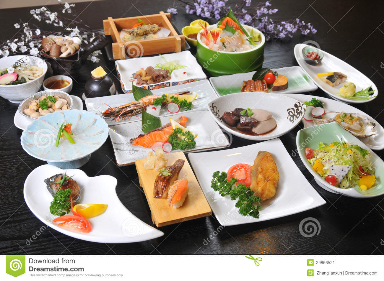Japanese cuisine stock image image of cook brown meat for Akina japanese cuisine menu