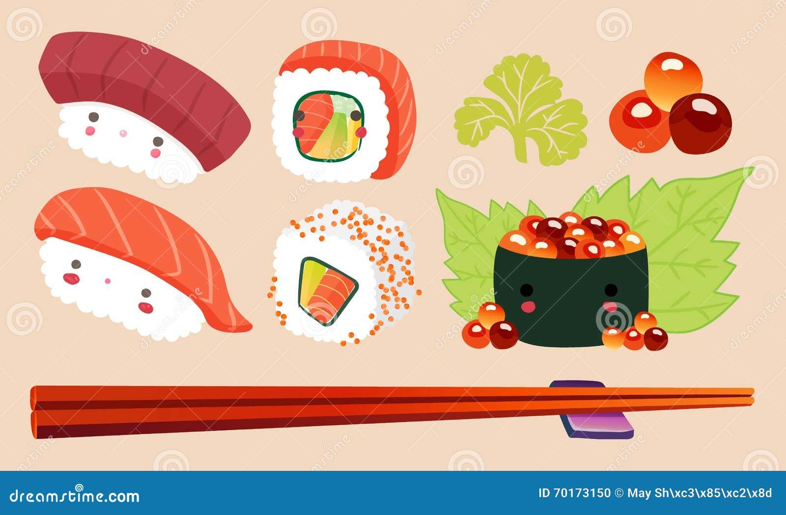 Cute Kawaii Food Sushi