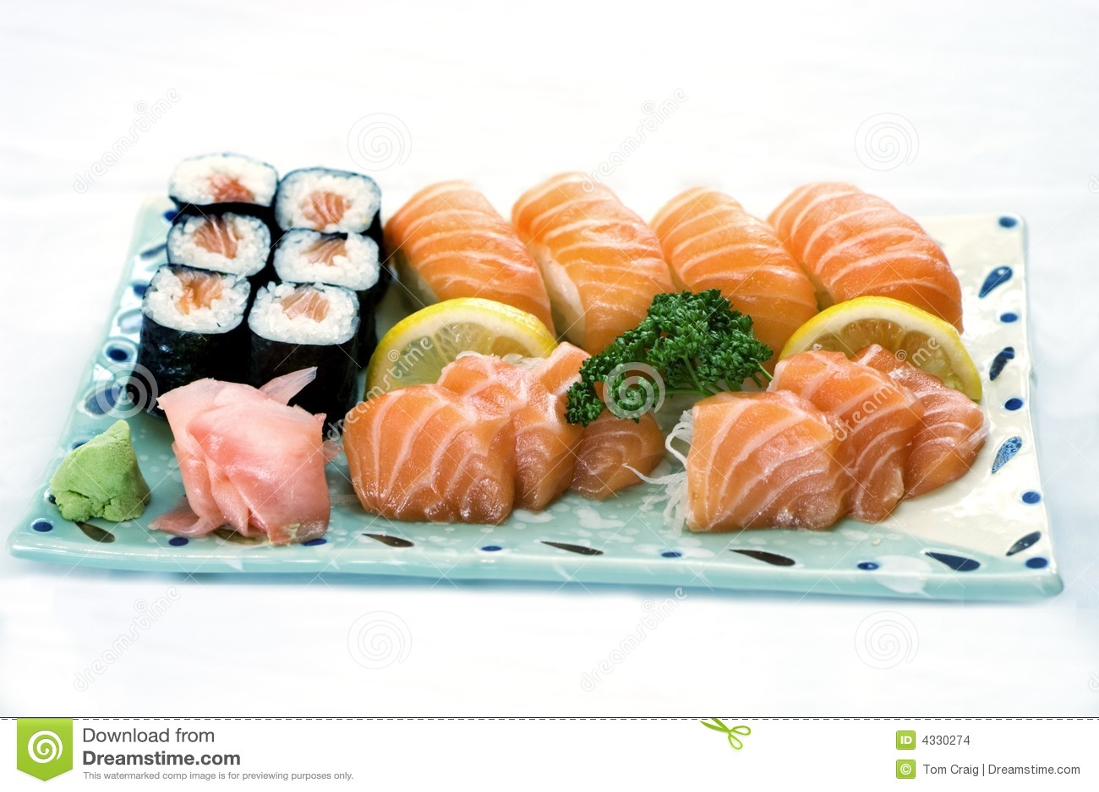 Japanese Food, Mixed Menu, Plate of Sashimi,