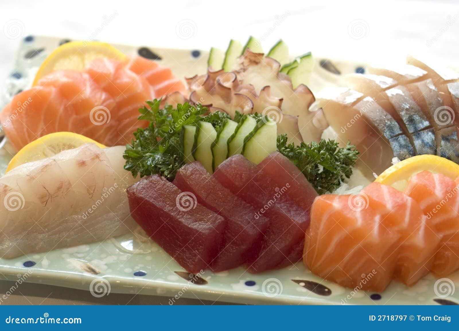 Japanese Food Sashimi Menu Royalty Free Stock Photography