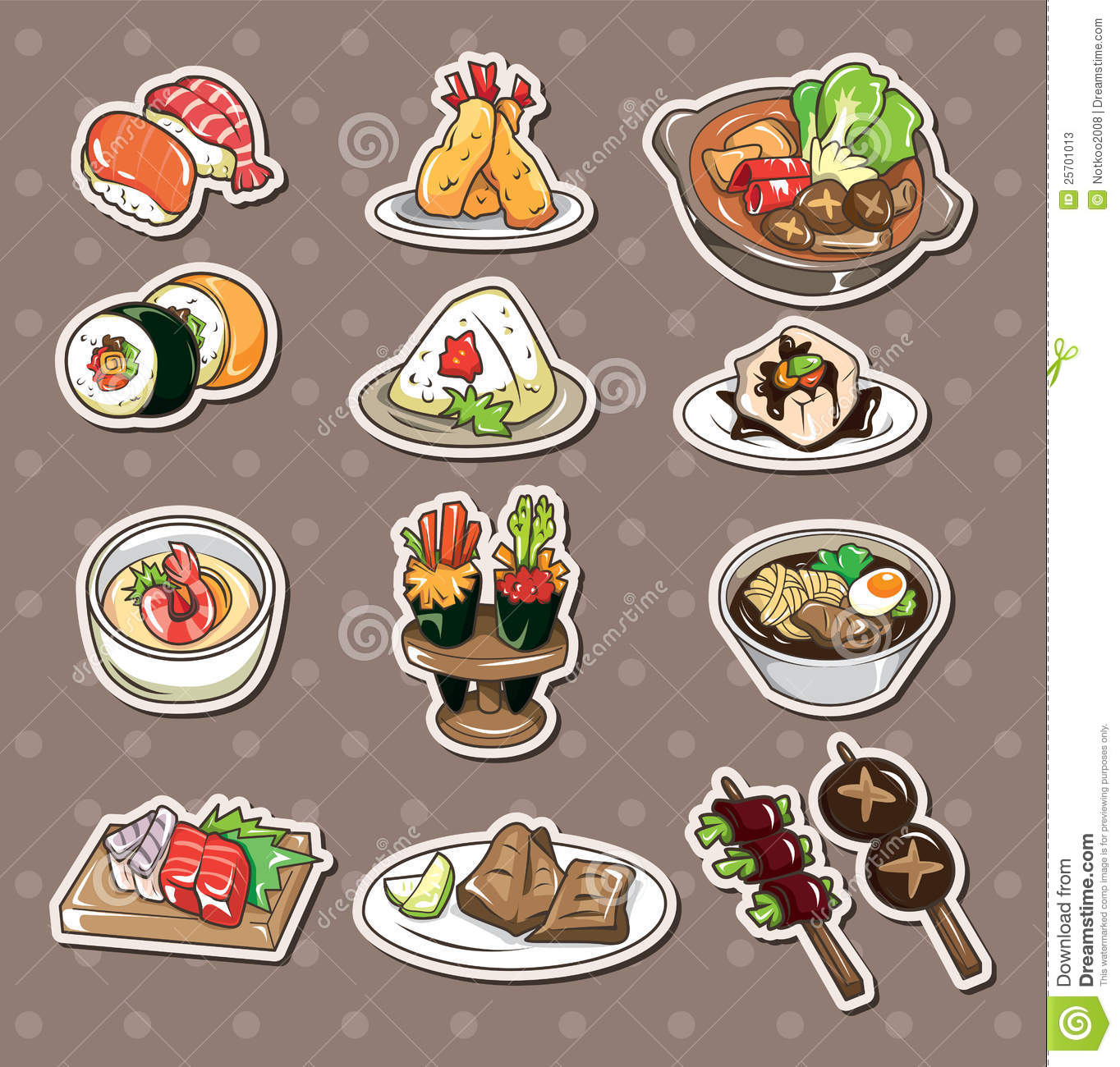 More Similar Stock Images Of ` Japanese Food Stickers