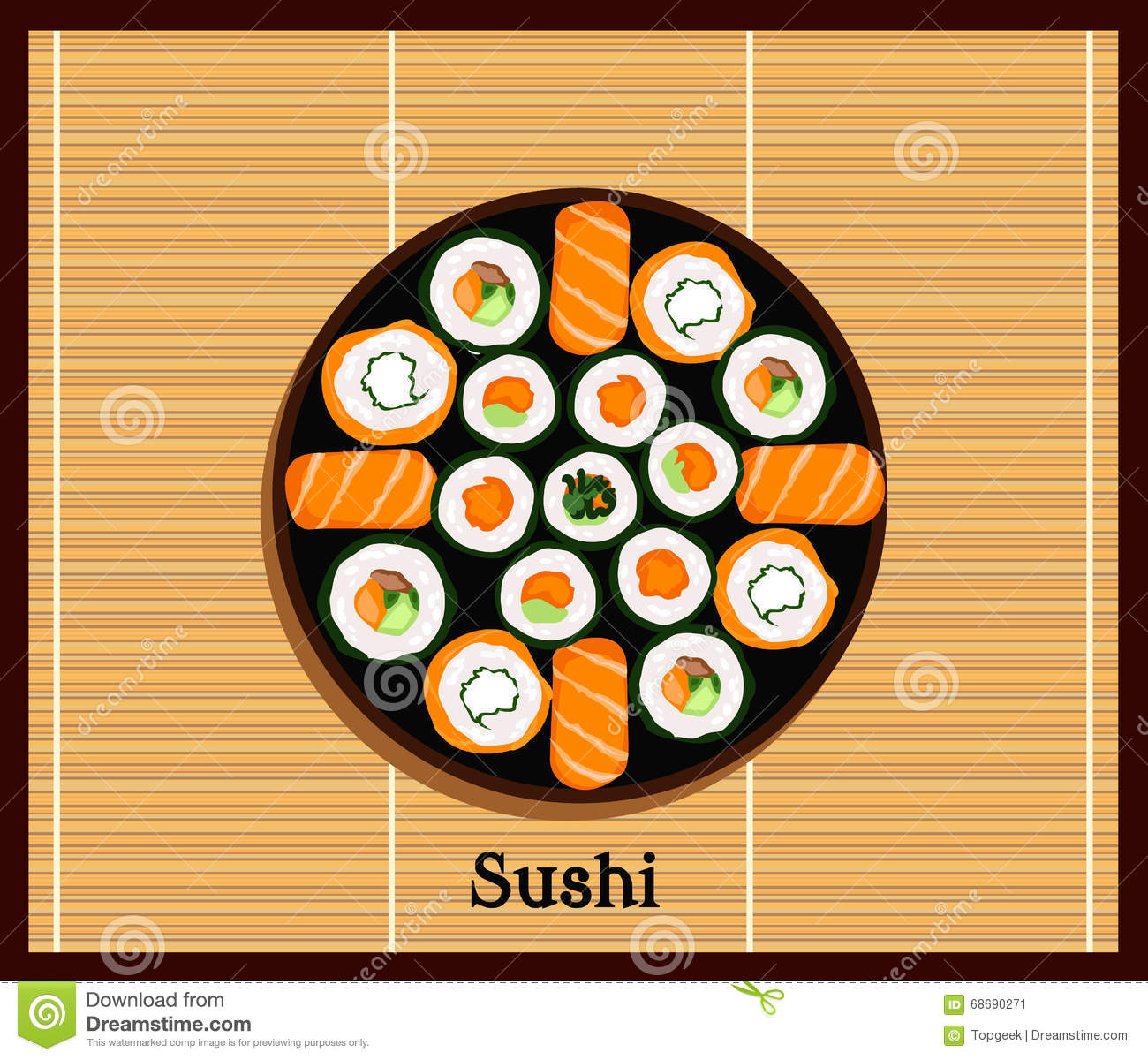 Japanese food design flat banner japanese sushi chinese food japan - Davaus Net Japanese Cuisine Design Avec Des Id 233 Es