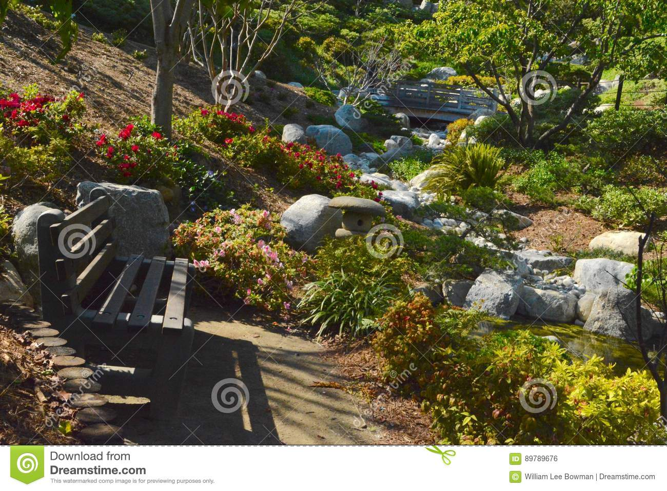 Japanese Friendship Garden stock photo. Image of spring - 89789676