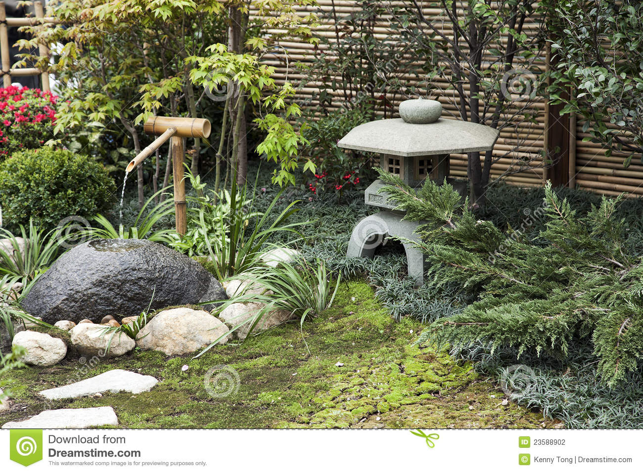 Japanese Garden Stock Photography Image 23588902