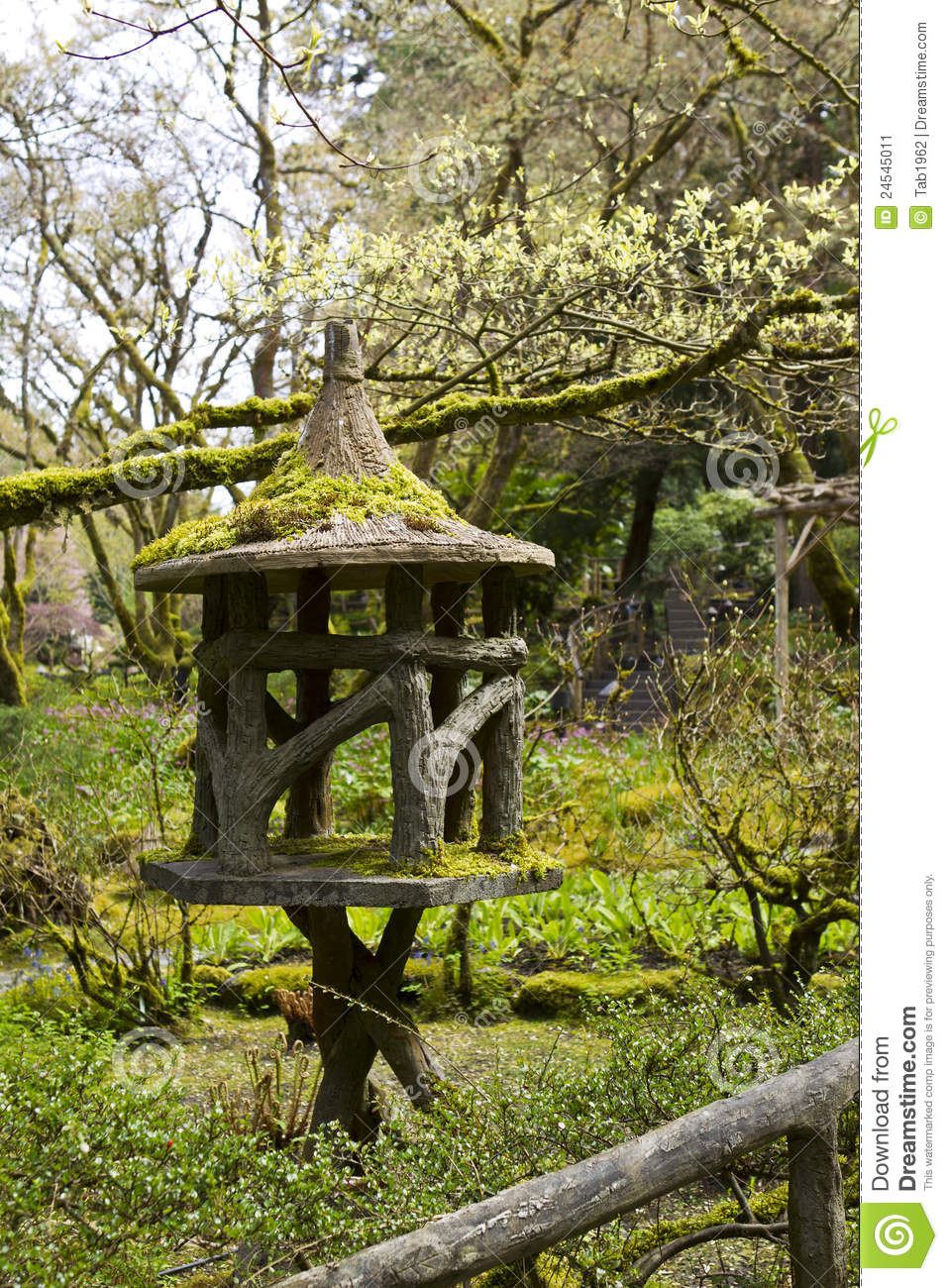 Japanese garden stock image image 24545011 for Japanese garden structures wood