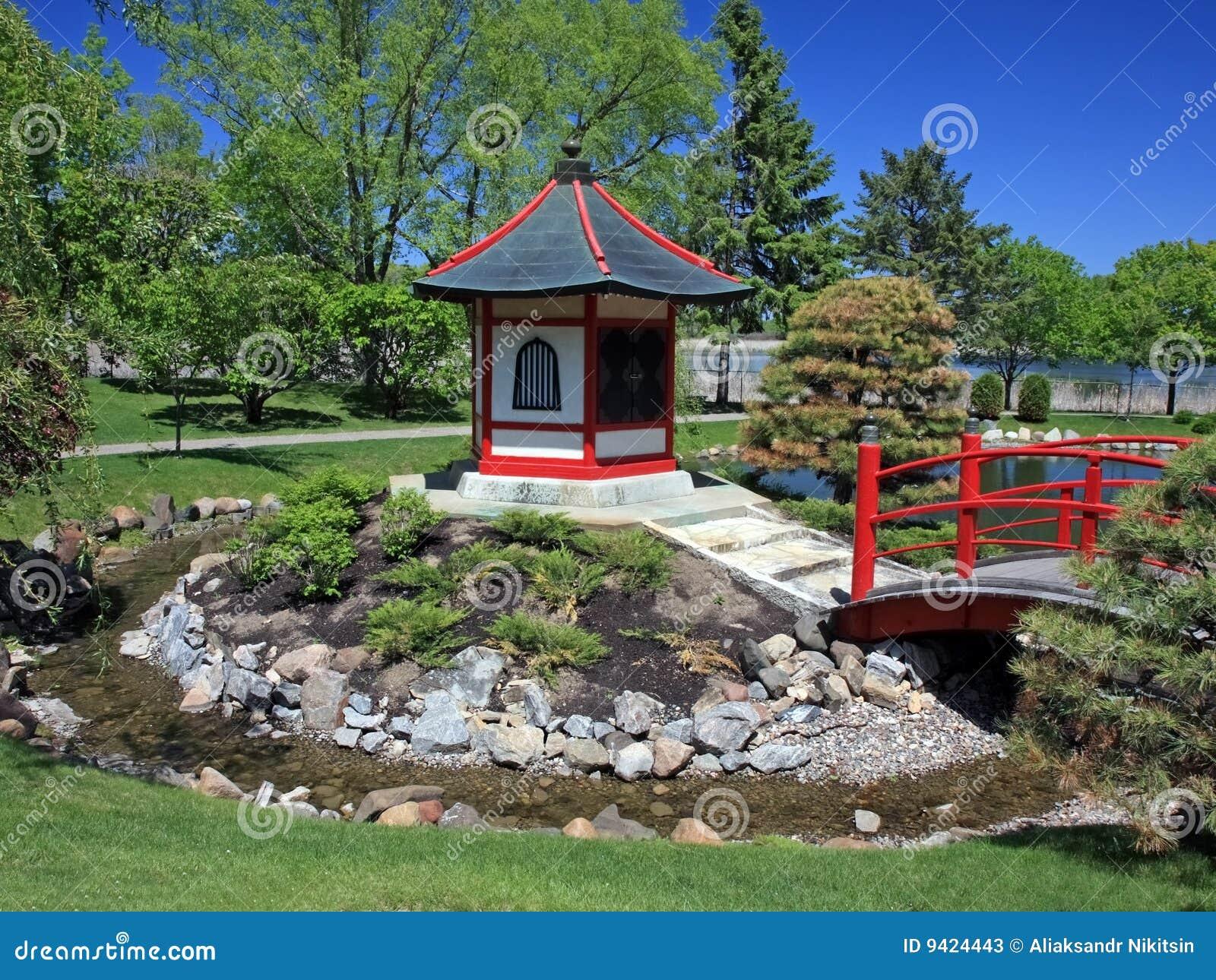 Japanese garden near Normandale college in Bloomington