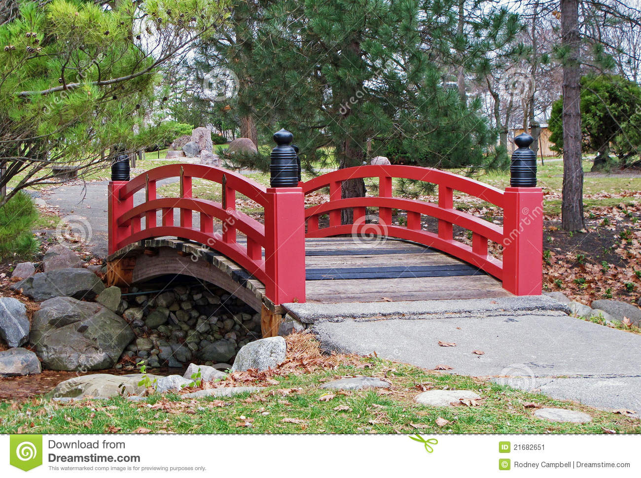 royalty free stock photo download japanese garden bridge - Red Japanese Garden Bridge
