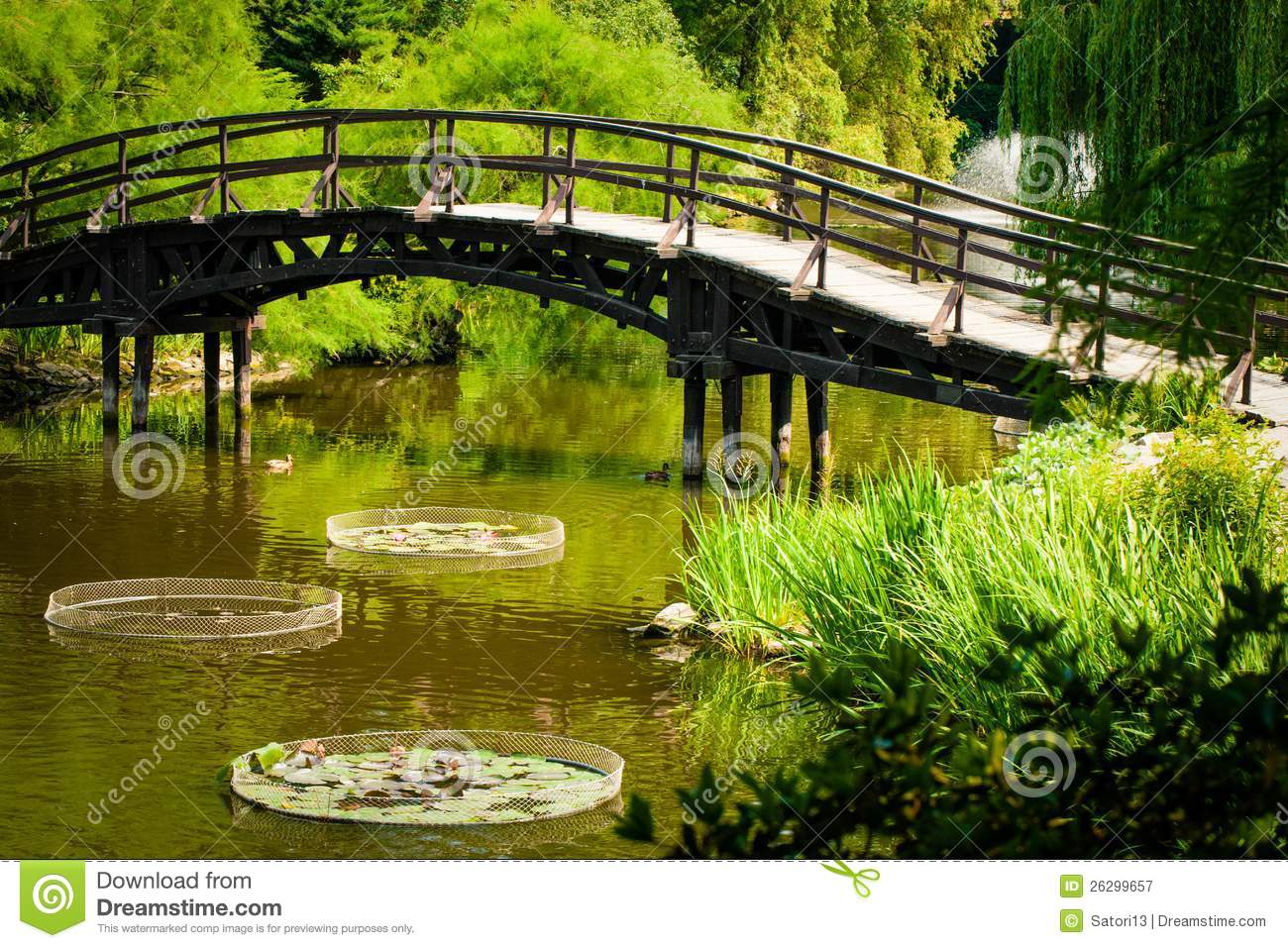 Japanese Garden Bridge Stock Image Image Of Asian