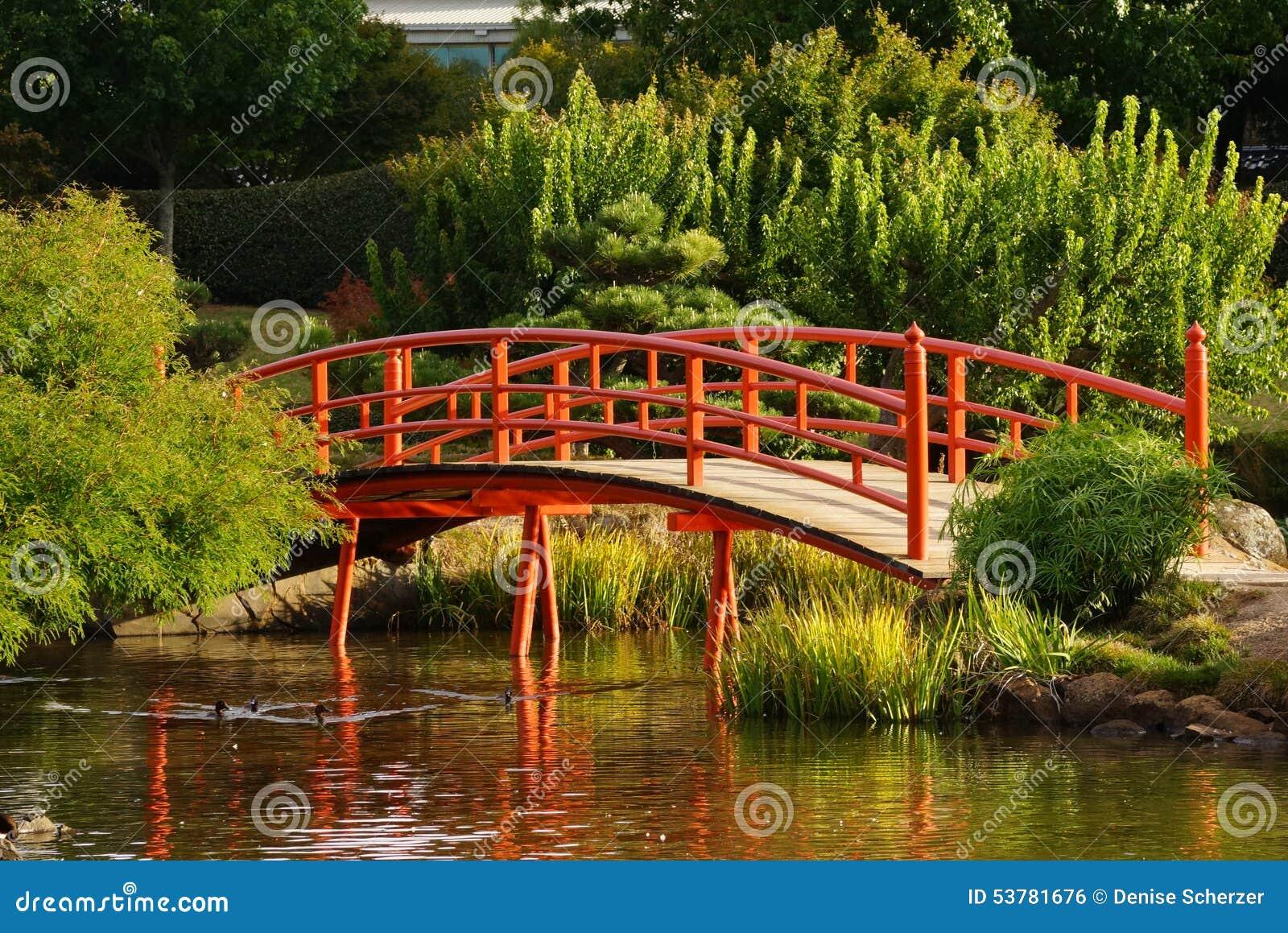 decorating japanese garden bridge
